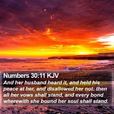 Numbers 30:11 KJV Bible Verse Image
