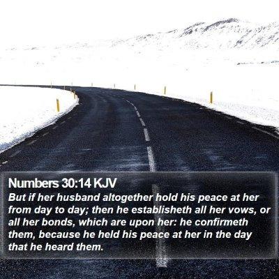 Numbers 30:14 KJV Bible Verse Image