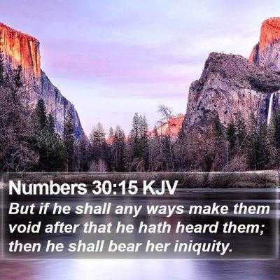 Numbers 30:15 KJV Bible Verse Image