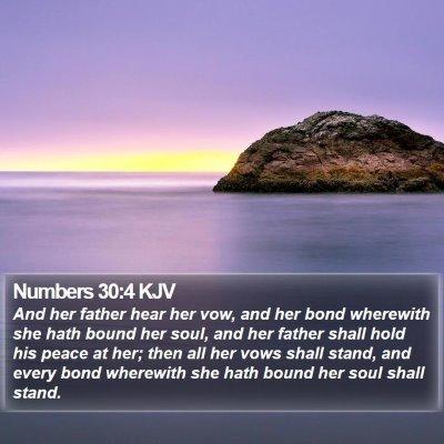 Numbers 30:4 KJV Bible Verse Image