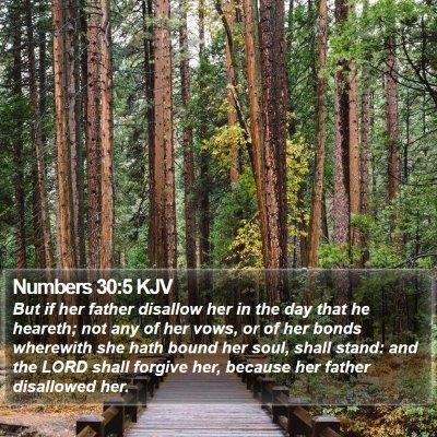 Numbers 30:5 KJV Bible Verse Image