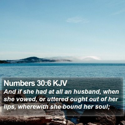Numbers 30:6 KJV Bible Verse Image