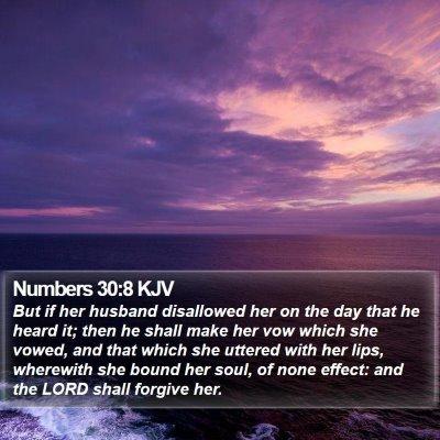 Numbers 30:8 KJV Bible Verse Image