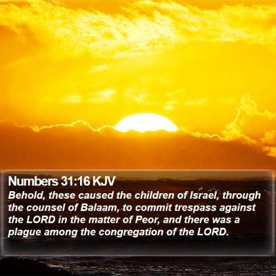 Numbers 31:16 KJV Bible Verse Image