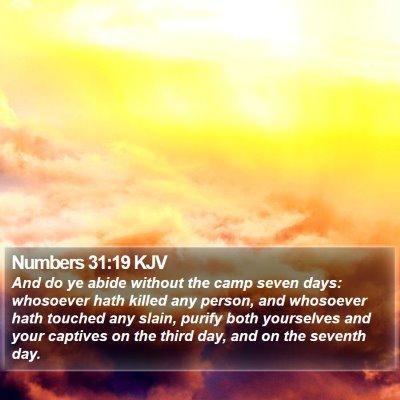 Numbers 31:19 KJV Bible Verse Image