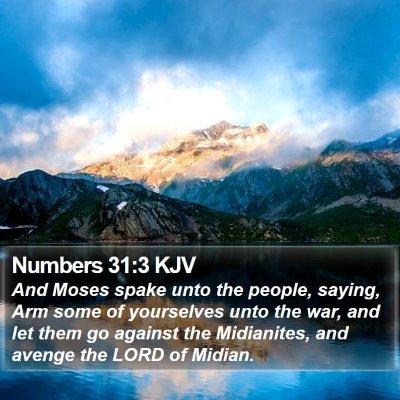 Numbers 31:3 KJV Bible Verse Image
