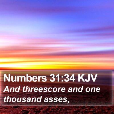 Numbers 31:34 KJV Bible Verse Image