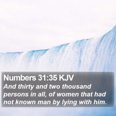 Numbers 31:35 KJV Bible Verse Image