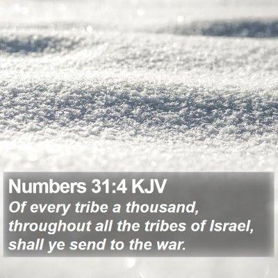 Numbers 31:4 KJV Bible Verse Image