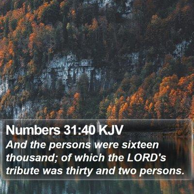 Numbers 31:40 KJV Bible Verse Image