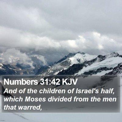 Numbers 31:42 KJV Bible Verse Image