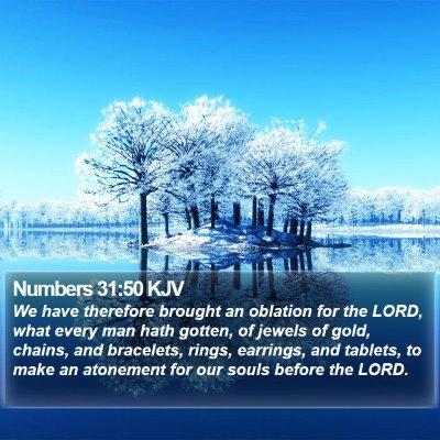 Numbers 31:50 KJV Bible Verse Image