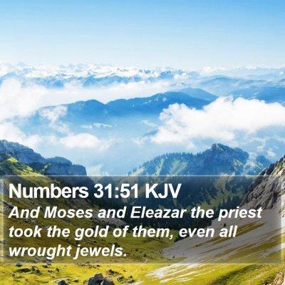 Numbers 31:51 KJV Bible Verse Image
