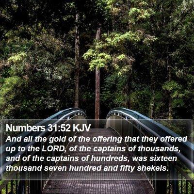 Numbers 31:52 KJV Bible Verse Image