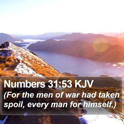 Numbers 31:53 KJV Bible Verse Image