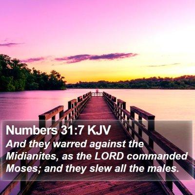 Numbers 31:7 KJV Bible Verse Image