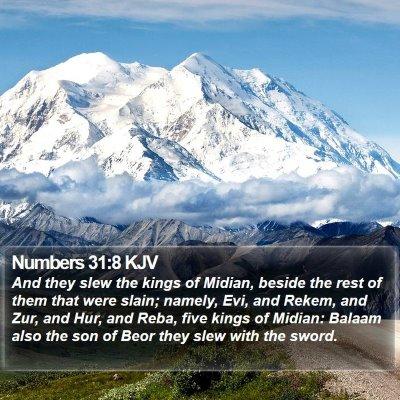 Numbers 31:8 KJV Bible Verse Image