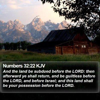 Numbers 32:22 KJV Bible Verse Image