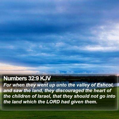 Numbers 32:9 KJV Bible Verse Image