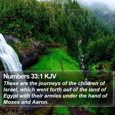 Numbers 33:1 KJV Bible Verse Image
