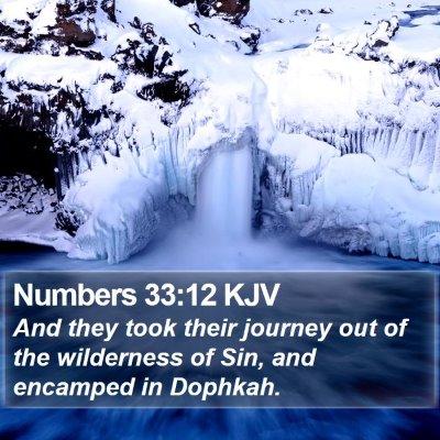 Numbers 33:12 KJV Bible Verse Image