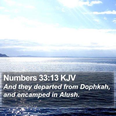 Numbers 33:13 KJV Bible Verse Image