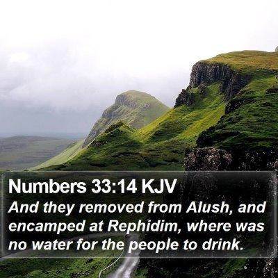 Numbers 33:14 KJV Bible Verse Image