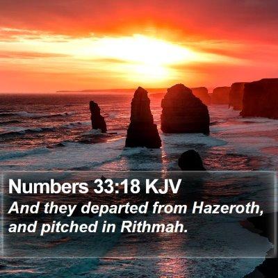 Numbers 33:18 KJV Bible Verse Image