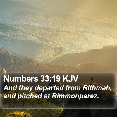 Numbers 33:19 KJV Bible Verse Image