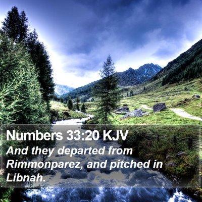 Numbers 33:20 KJV Bible Verse Image