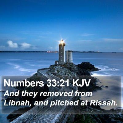 Numbers 33:21 KJV Bible Verse Image