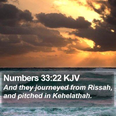 Numbers 33:22 KJV Bible Verse Image