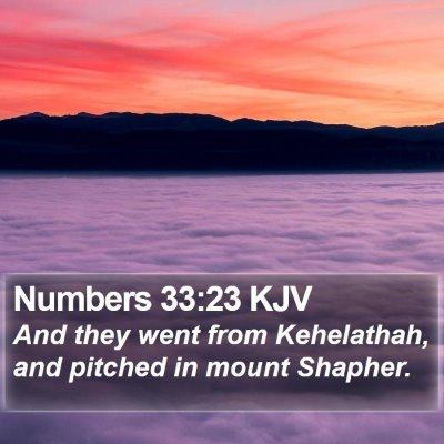 Numbers 33:23 KJV Bible Verse Image