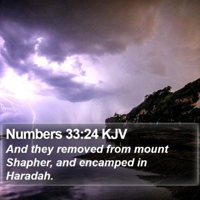 Numbers 33:24 KJV Bible Verse Image