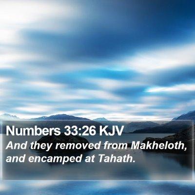 Numbers 33:26 KJV Bible Verse Image