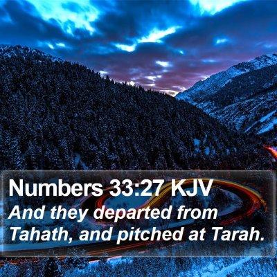 Numbers 33:27 KJV Bible Verse Image