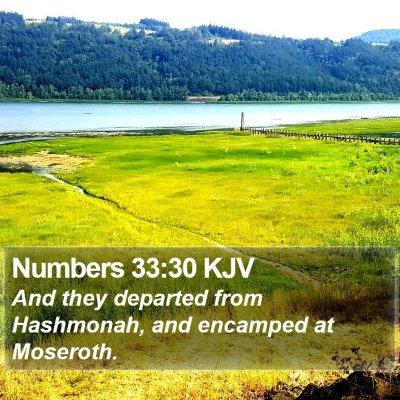 Numbers 33:30 KJV Bible Verse Image