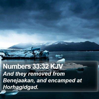 Numbers 33:32 KJV Bible Verse Image
