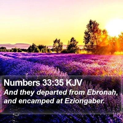 Numbers 33:35 KJV Bible Verse Image