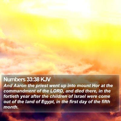 Numbers 33:38 KJV Bible Verse Image