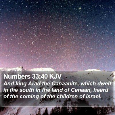 Numbers 33:40 KJV Bible Verse Image