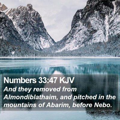 Numbers 33:47 KJV Bible Verse Image