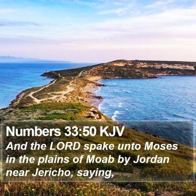 Numbers 33:50 KJV Bible Verse Image