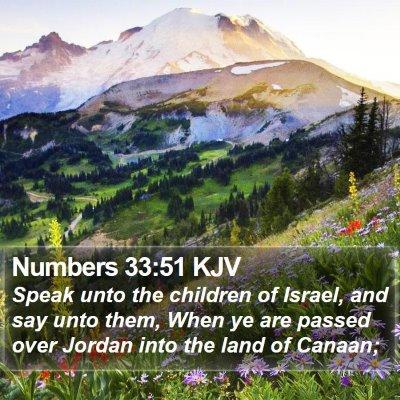 Numbers 33:51 KJV Bible Verse Image