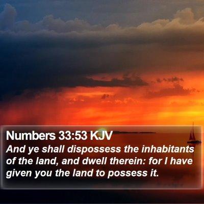 Numbers 33:53 KJV Bible Verse Image