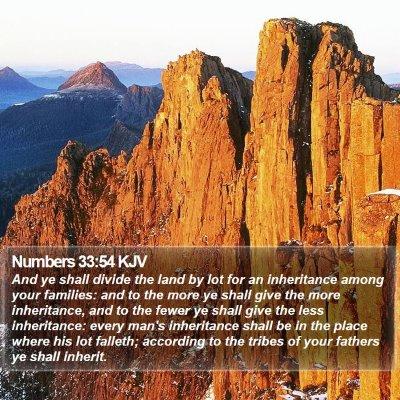 Numbers 33:54 KJV Bible Verse Image