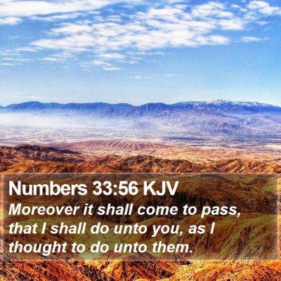 Numbers 33:56 KJV Bible Verse Image