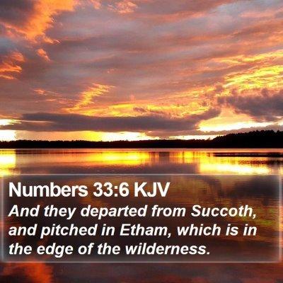 Numbers 33:6 KJV Bible Verse Image