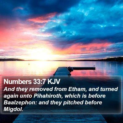 Numbers 33:7 KJV Bible Verse Image