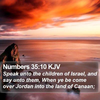Numbers 35:10 KJV Bible Verse Image